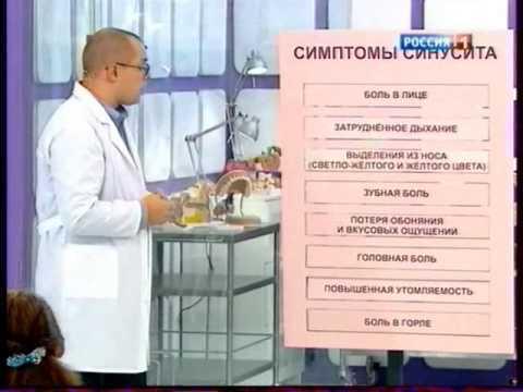 Хронический синусит: симптомы и лечение у взрослых