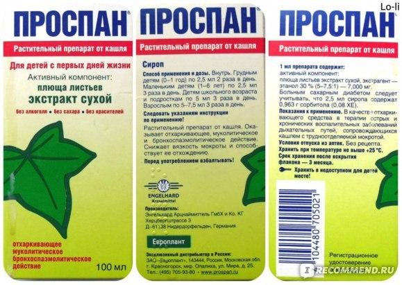 Плющ от кашля для детей и взрослых: рецепты
