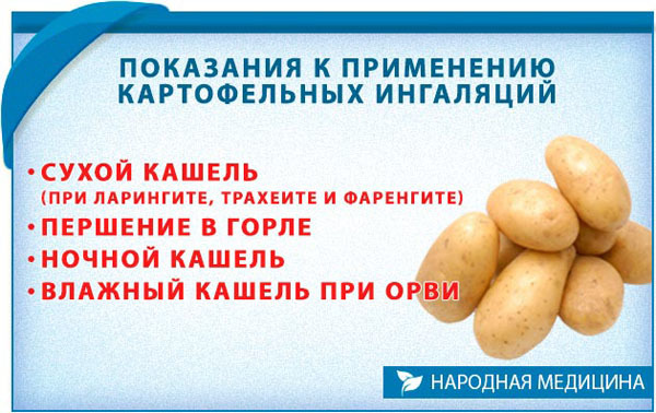 Картофельный компресс от кашля:рецепт приготовления